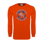 Orange Long Sleeve T Shirt-Soccer Circle