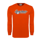 Orange Long Sleeve T Shirt-Softball Lady Design