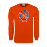 Orange Long Sleeve T Shirt-Tennis Ball