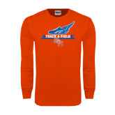 Orange Long Sleeve T Shirt-Track and Field Side Design