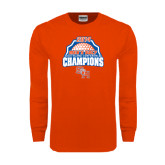 Orange Long Sleeve T Shirt-Mens Golf Champions