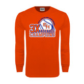 Orange Long Sleeve T Shirt-Southland Conference Baseball Champions