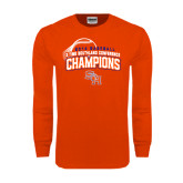 Orange Long Sleeve T Shirt-Southland Conference Baseball Champions - Arched Version