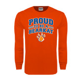 Orange Long Sleeve T Shirt-Proud to be a Bearkat