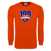 Orange Long Sleeve T Shirt-100th Football Season