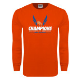 Orange Long Sleeve T Shirt-2016 Southland Conference Champions Indoor Track & Field