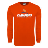 Orange Long Sleeve T Shirt-2016 Southland Conference Champions Baseball