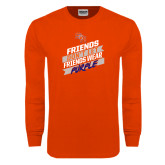 Orange Long Sleeve T Shirt-Friends Dont Let Friends Wear Purple