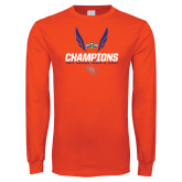 Orange Long Sleeve T Shirt-Southland Conference Indoor Track and Field Champions