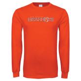 Orange Long Sleeve T Shirt-Sam Houston Bearkats