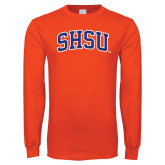 Orange Long Sleeve T Shirt-Arched SHSU