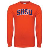 Orange Long Sleeve T Shirt-Arched SHSU
