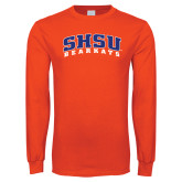 Orange Long Sleeve T Shirt-Arched SHSU Bearkats