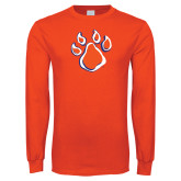 Orange Long Sleeve T Shirt-Paw