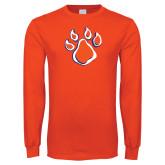 Orange Long Sleeve T Shirt-Paw