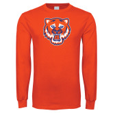 Orange Long Sleeve T Shirt-Bearkat Head
