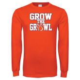 Orange Long Sleeve T Shirt-Grow the Growl