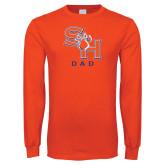 Orange Long Sleeve T Shirt-Dad