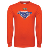 Orange Long Sleeve T Shirt-2017 Southland Conference Baseball Champions