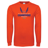 Orange Long Sleeve T Shirt-2017 Southland Conference Mens Track and Field