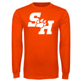 Orange Long Sleeve T Shirt-Primary Athletics Mark