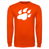 Orange Long Sleeve T Shirt-Secondary Athletics Mark