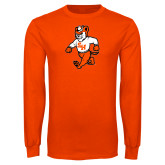 Orange Long Sleeve T Shirt-Bearkat Full Body