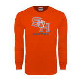 Orange Long Sleeve T Shirt-Soccer