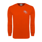 Orange Long Sleeve T Shirt-SH Paw Official Logo
