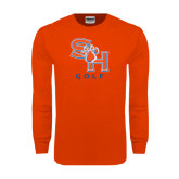 Orange Long Sleeve T Shirt-Golf