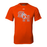 Under Armour Orange Tech Tee-SH Paw Official Logo