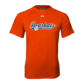 Under Armour Orange Tech Tee-Softball Lady Design