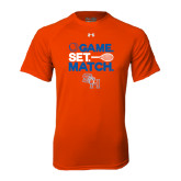 Under Armour Orange Tech Tee-Tennis Game Set Match
