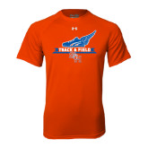 Under Armour Orange Tech Tee-Track and Field Side Design