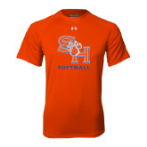 Under Armour Orange Tech Tee-Softball