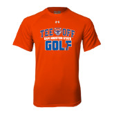 Under Armour Orange Tech Tee-Golf Tee Off