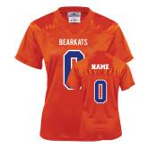 Ladies Orange Replica Football Jersey-personalized