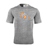Performance Grey Heather Contender Tee-SH Paw Official Logo