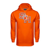 Under Armour Orange Performance Sweats Team Hood-SH Paw Official Logo