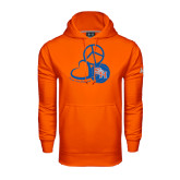 Under Armour Orange Performance Sweats Team Hood-Volleyball Design