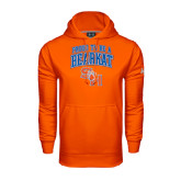 Under Armour Orange Performance Sweats Team Hood-Proud To Be A Bearkat Arched
