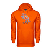 Under Armour Orange Performance Sweats Team Hood-Dad