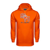 Under Armour Orange Performance Sweats Team Hood-Alumni