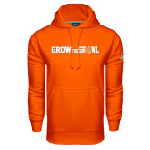 Under Armour Orange Performance Sweats Team Hood-Grow the Growl Horizontal