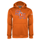 Under Armour Orange Performance Sweats Team Hoodie-SH Paw Official Logo