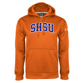 Under Armour Orange Performance Sweats Team Hoodie-Arched SHSU
