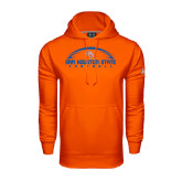Under Armour Orange Performance Sweats Team Hood-Arched Football Design