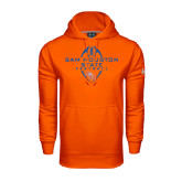 Under Armour Orange Performance Sweats Team Hood-Tall Football Design