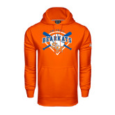 Under Armour Orange Performance Sweats Team Hood-Softball Design w/ Bats and Plate