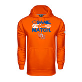 Under Armour Orange Performance Sweats Team Hood-Tennis Game Set Match